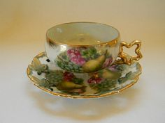 Vintage ROYAL SEALY, Reticulated, Luster Cup and Saucer