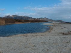A clear, mild winter afternoon at the mouth of Flumendosa river (Sardinia, IT)