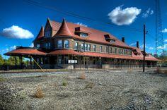 The coolest train depot in Michigan.