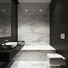 modeles salles de bains en marbre modele de salle de bain moderne noir et blanc