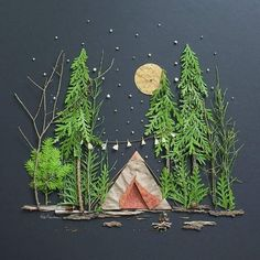 Love this landscape diorama idea for kids kids crafts art for kids outdoor art 17 super fun kids garden projects to pursue in spring Projects For Kids, Diy For Kids, Kids Crafts, Arts And Crafts, Kids Nature Crafts, Camping Activities For Kids, Christmas Art Projects, Nature Activities, Kids Fun