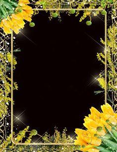 Цветочная рамка для фото - Желтые тюльпаны