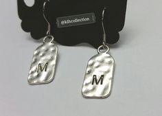 """M"" Initial Earrings"
