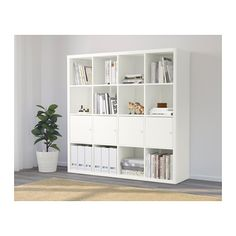 IKEA KALLAX shelving unit with 4 inserts Width: 147 cm, Depth: 39 cm, Height: 147 cm £117