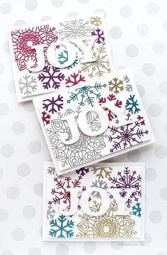 Holiday Card Series 2017 – Day 17 – Glitter Snowflake Diecuts – kwernerdesign blog