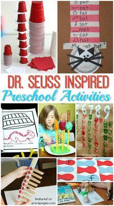 Dr. Seuss Activities for Preschoolers - Pre-K Pages