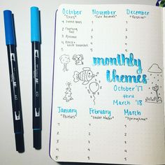 This beautiful bullet journal theme tracker allows me to organize my themes ahead of time. I choose a format that has a general, similar monthly theme, and each weekly layout is a different variation on the theme. It's a great collection I keep in my bujo and I recommend this system to any person who wants to know how to start a Bullet Journal!