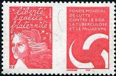 Francobolli . Lotta contro la malaria - Malaria on Stamps Francia 2004