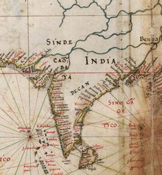 Old Portuguese map of India