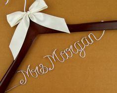 Personalized Wedding Hanger, Custom Bridal Hanger, Personalized Custom Bride Name Hanger, Bride Hanger, Bridal Shower Gift #3 by haomaihanger on Etsy
