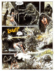 Cool Comic Book Pages: Paolo Eleuteri Serpieri - Druuna Comic Book Pages, Comic Books, Serpieri, Science Fiction Series, Figure Sketching, Female Images, Famous Artists, Mythical Creatures, Erotic Art