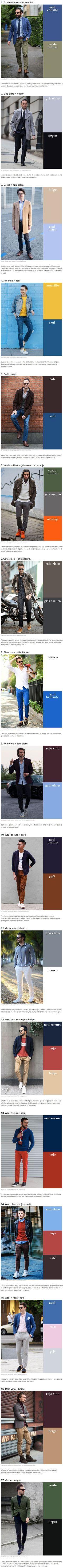 17 Combinaciones de color que todo hombre puede usar 741b2555afe7