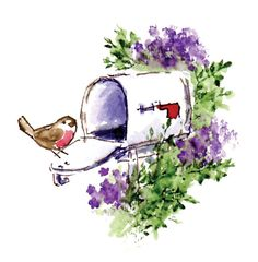Flowering Mailbox Wonderful Watercolor Stamp by Art Impressions (4010105)