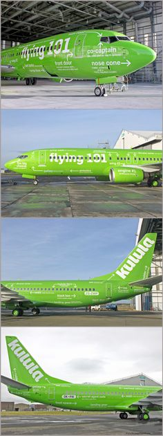 STRANGE NEW SOUTH AFRICAN LOW COST AIRLINES - KULULA - FLYING 101 PAINT JOB!