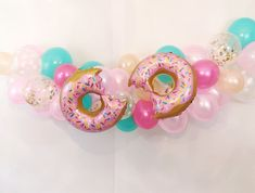 Donut Grow Up balloons Donut Party Decorations Donut Party Decor Donut Birthday Kids Birthday Party Baby Birthday Party Donut Balloons Donut Birthday Parties, Donut Party, Baby 1st Birthday, Birthday Party Themes, Birthday Ideas, Paris Birthday, Cupcake Party, Baloon Garland, Grown Up Parties