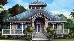 Florida Cracker Style - 24046BG | Beach, Florida, Southern, Vacation, 1st Floor Master Suite, CAD Available, Den-Office-Library-Study, PDF, Split Bedrooms, Wrap Around Porch | Architectural Designs
