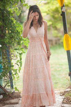 Carrie Dress jurk van Hippie stedelijke avond zomer Maxi