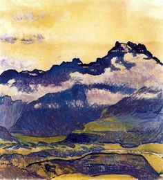 'Dents du Midi' (1914) by Swiss painter Ferdinand Hodler (1853-1918). source: ines. via Bo Fransson