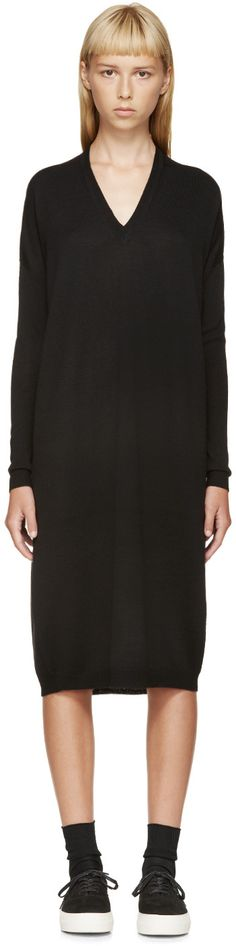 6397 Black Merino Sweater Dress