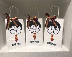 Items similar to Harry Potter Party Bags on Etsy Baby Harry Potter, Harry Potter Fiesta, Harry Potter Thema, Theme Harry Potter, Harry Potter Birthday, Party Bags, Party Favors, Happy Birthday Sarah, Potion Labels