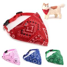 Adjustable Bandana Neckerchief Collar Scarf Dog Cat Puppy Kitten X'mas Halloween