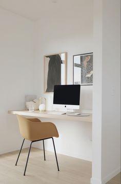 Home Office Setup, Home Office Space, Office Inspo, Minimalist Home, Office Interiors, Home Decor Bedroom, Interiores Design, Home Decor Inspiration, Home Interior Design