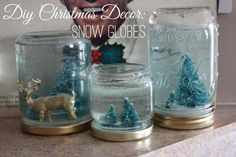 DIY Christmas Decor: Snow Globes