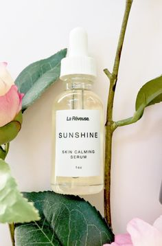 Sunshine skin calming serum reduces redness, clears acne, its a great daily moisturizer also.   www.lareveusebeauty.com  #skincare #routine #beauty #makeup #cosmetics