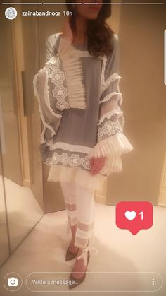 idk how I feel about this Stylish Dresses For Girls, Stylish Dress Designs, Designs For Dresses, Simple Dresses, Stylish Dress Book, Pakistani Fashion Casual, Pakistani Dress Design, Pakistani Outfits, Frock Fashion