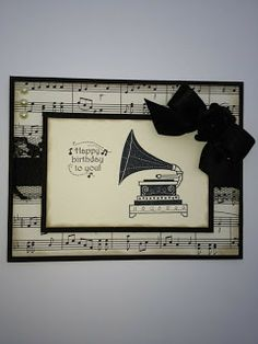 Stampin Up Timeless Talk. CTMH music stamp. Colonial.