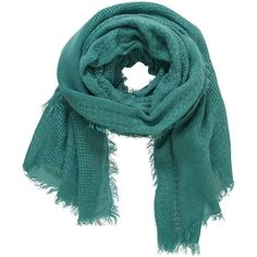 maurices Weave Knit Scarf ($20) ❤ liked on Polyvore featuring accessories, scarves, dusty peacock, knit shawl, peacock scarves, long scarves, knit scarves and peacock shawl