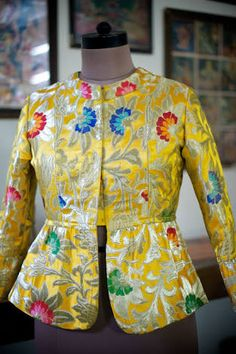 Hand Made Eclectic Brocade Jacket for Women, Online India, Luxury . Kids Blouse Designs, Bridal Blouse Designs, Blouse Neck Designs, Designs For Dresses, Stylish Blouse Design, Kurti Designs Party Wear, Collection, Medium, Peplum Jacket