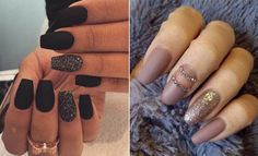 25 Cool Matte Nail Designs to Copy in 2017 It's coming to that time of year again, and the fall and winter trends for nails this year and t. Latest Nail Designs, Best Nail Art Designs, Fall Nail Designs, Simple Nail Designs, Matte Gel Polish, Matte Nail Art, Acrylic Nails, Polish Nails, Coffin Nails