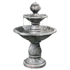 2-Tier Cement Fountain-10141 at The Home Depot