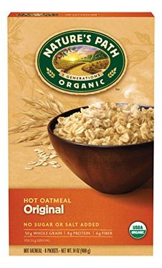 Natures Path Organic Instant Hot Oatmeal Original 14 Ounce Pack of 6 -- Click image for more details.