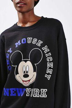 Spliced Mickey Sweatshirt - Topshop
