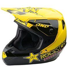2014 One Industries Atom Rockstar MX Dirt Bike Off-Road ATV Motocross Helmets