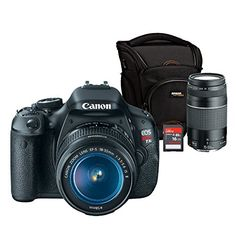 Canon EOS Rebel T3i with 18-55mm and 75-300mm Lens and Accessories Bundle