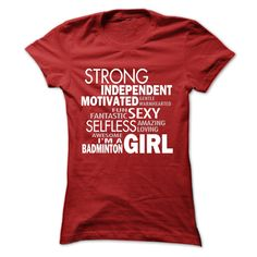 Badminton Girl T-shirt. More at: http://www.sunfrogshirts.com/USATShirtsStore/custom-badminton-t-shirts-hoodies