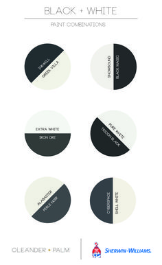 Black and White Paint Combinations from Sherwin Williams White Exterior Paint, White Exterior Houses, Exterior Paint Colors For House, Interior Paint Colors, Paint Colors For Home, Exterior Colors, Interior Design, Modern Interior, Design Design
