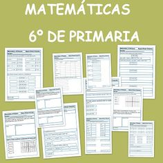 Ejercicios de Matemáticas para Sexto de Primaria Math 2, Fun Math, Math Projects, Algebra, Teaching Math, Middle School, Activities For Kids, Homeschool, Classroom