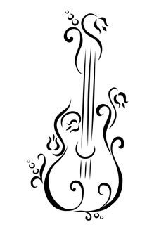 Keep smiling ; Music Drawings, Art Drawings, Dream Catcher Drawing, Guitar Tattoo Design, Sheet Music Art, Cute Canvas, Wood Burning Patterns, Guitar Art, Diy Arts And Crafts