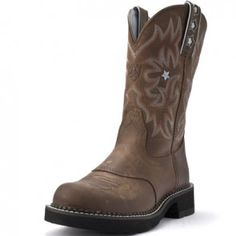 078f5091cd7 Ariat Women s Probaby Round Toe Driftwood Cowgirl Boots Brown Cowboy Boots