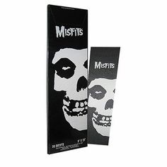 "MISFITS FIEND SKATEBOARD GRIP TAPE 9 X 33"" BLACK & WHITE SKULL GRAPHICS"