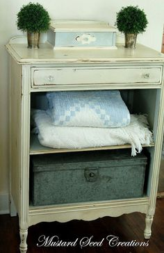 Good idea for an old dresser that has damaged drawers.