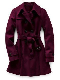 Plum Coat Fashion and Style