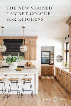 Modern Farmhouse Kitchens, Home Kitchens, Dream Kitchens, Kitchen Modern, Kitchen Small, Light Wood Kitchens, Rustic Kitchen, Farmhouse Small, Minimal Kitchen