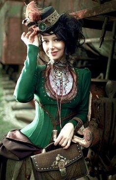 De semblante steampunk.   Fotografía de Alissa Maximova.