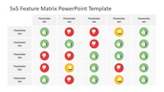 The Feature Matrix PowerPoint Template is a business and management presentation diagram. The template contains three slides of matrix designs with 5 Powerpoint Slide Designs, Powerpoint 2010, Powerpoint Template Free, Powerpoint Themes, Business Powerpoint Templates, Email Templates, Data Table, Powerpoint Animation, Data Charts