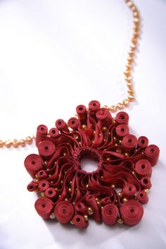 Necklace | Michelle Pajak-Reynold. Textile elements and other materials